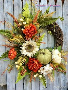 Thanksgiving Wreath Fall Door with Pumpkin Fall Pumpkin Door Decor Fall Pumpkin Wreath Orange and Green Autumn Door Wreath Fall Wreath Fall Thanksgiving Wreath Fall Door Wreath with PumpkinFall Thanksgiving Wreaths, Autumn Wreaths, Thanksgiving Decorations, Holiday Wreaths, Wreath Fall, Spring Wreaths, Summer Wreath, Deco Orange, Pumpkin Wreath