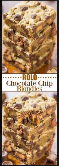 Rolo Chocolate Chip Blondies