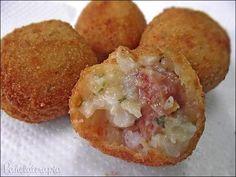 Bolinho de Risotto ~ PANELATERAPIA - Blog de Culinária, Gastronomia e Receitas