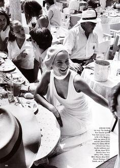 US Vogue July 1999 Some Like it Hot Photographer: Mario Testino Model: Carolyn Murphy Fashion Editor: Carine Roitfeld Hair: Marc Lopez Makeup: Tom Pecheux