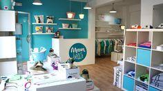 Ideas de #Tienda, estilo #Contemporaneo color  #Turquesa,  #Marron,  #Blanco, diseñado por Nuvart  #CajonDeIdeas