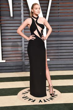 Gigi Hadid in Atelier Versace at the Vanity Fair Oscar party