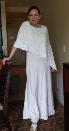 Alabama Chanin style wedding dress that I made for my friend.