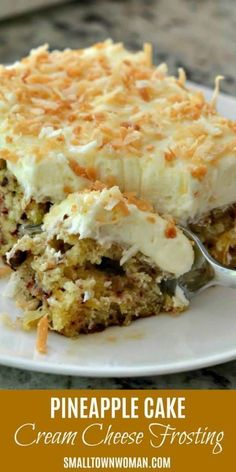 The best pineapple cake recipe ever! This moist delectable cake has an easy cream cheese frosting that has been flavored with pineapple juice and topped with toasted coconut. It is perfect for your holiday parties and gatherings. Save this pin for later! Pineapple Desserts, Pineapple Recipes, Pineapple Juice, Desserts With Pineapple, Pineapple Sheet Cake Recipe, Pineapple Frosting, Coconut Pineapple Cake, Easy Pineapple Cake, Coconut Cakes
