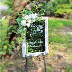 ガーデンウェディングに♡ナチュラルな結婚式♡グリーンのウェルカムボードまとめ一覧♡