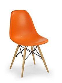 NOWOŚĆ !!! Pomarańczowe krzesło na nogach K-153
