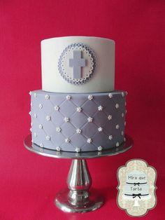 MIRA QUE TARTA RELIGIOUS BAPTISM CAKE
