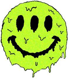 Melting tripy smiling face
