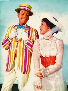Dick Van Dyke and Julie Andrews, Mary Poppins, 1964