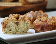 Banana Cinnamon Bun Muffins  #glutenfree #grainfree #paleo