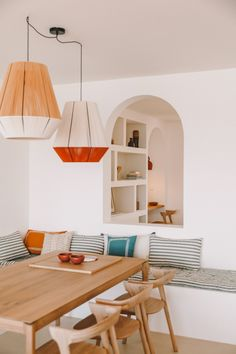 Casa Santa Teresa is a Corsican holiday home with unspoilt ocean views - Modern Interior Design Wooden Staircases, Ideas Para Organizar, Al Fresco Dining, Color Tile, Open Plan Living, Corsica, Dining Area, Interior And Exterior, Sweet Home