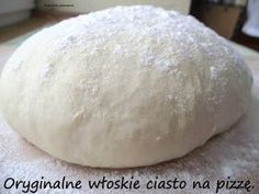Rozpustne gotowanie: Oryginalne włoskie ciasto na pizzę. Coffee Cake, Cake Recipes, Recipies, Food And Drink, Bread, Dinner, Cooking, Italy, Pies