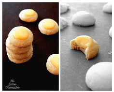 Thumbprint Lemon Curd {Galletas de Huella}