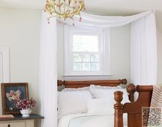 2. #Curtain Rods - 13 Gorgeous DIY #Canopy Beds ... → DIY #Little