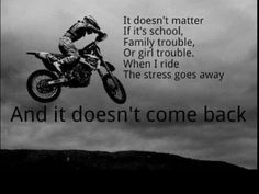 Discover and share Dirt Bike Quotes To Live By. Explore our collection of motivational and famous quotes by authors you know and love. Dirtbike Memes, Motocross Quotes, Dirt Bike Quotes, Racing Quotes, Biker Quotes, Motocross Funny, Motocross Love, Motocross Girls, Motorcycle Humor