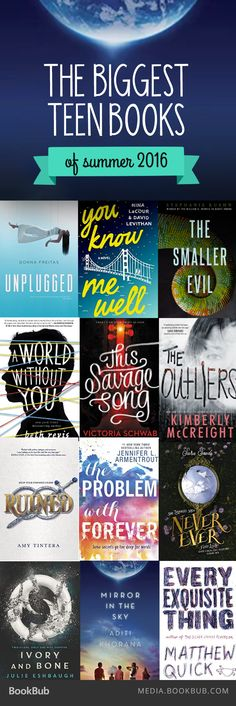Check out the biggest teen books of summer 2016, including dystopian stories, novels featuring mental illness, and fairy tale retellings.