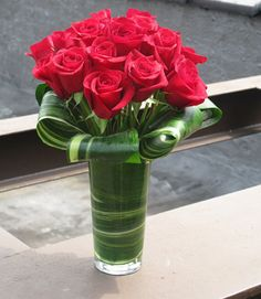 Fresh Cut NYC Red Roses, the perfect centerpiece for your Christmas table