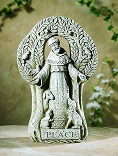 Patron of Animals Saint St Francis of Assisi Peace Tree Statue 12 12 Inch *** See this great product.