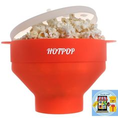 Popcorn Popper Collapsible Microwave  Handles KItchen Food Fast BPA PVC Free   #PopcornPopper