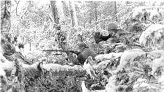 Karelian and Finnish soldiers fight side by side against Russian Bolsheviks, January 9, 1922, west of Rukajärvi in Tšolmo.