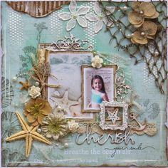 Cherish Your Smile-beautiful kit @ The Scrapbook Diaries.