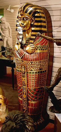 King Tutankhamen's Life-Size Sarcophagus Cabinet 6 ft tall King Tut Tomb, Ancient Egypt History, Visit Egypt, Historical Artifacts, Egyptian Art, Science Art, Gods And Goddesses, Archaeology, Knowledge