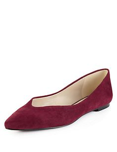 Suede Pointed Toe Pumps with Insolia Flex® | M&S