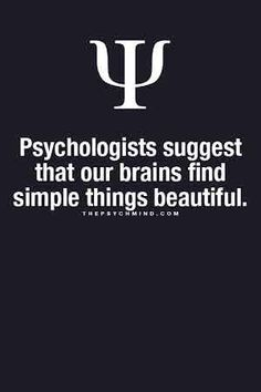 psychologists suggest that our brains find simple things beautiful.