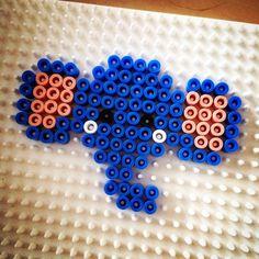 Elephant hama perler by loensman