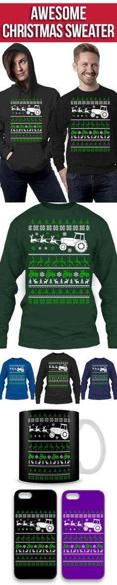 Farmer Ugly Christmas Sweater! Click The Image To Buy It Now or Tag Someone You Want To Buy This For. #farmer