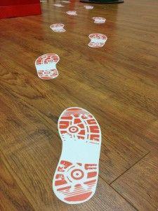 It's big foot... creative floor graphics