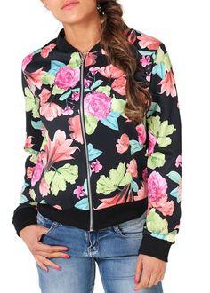 Compre Jaqueta Bomber Feminina Estampada Floral - Frete gratis   UFashionShop