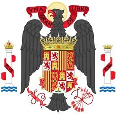 Spanish Equatorial Guinea Coat of Arms of Spain Spanish People, Creative Skills, European History, Second World, Cartography, Coat Of Arms, Spain, Aurora Sleeping Beauty, Old Things