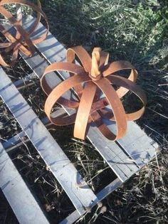 Metal art pumpkin scrap metal