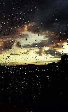 deszcz....