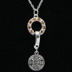 Boston Bruins Ladies MVP Crystal Necklace