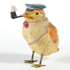 This little fellow is a hoot! Metal Toys, Tin Toys, Wood Toys, Kitsch, Evans, Wood School, Holiday Candy, Holiday Decor, Wood Games