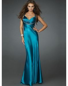 Sheath / Column Halter Ruffles Sleeveless Floor-length Elastic Woven Satin Prom Dresses / Evening Dresses (SZ0256205)