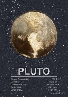 size: Giclee Print: Pluto by Tracie Andrews : This exceptional art print was made using a sophisticated giclée printing process, which deliver pure, rich color and remarkable detail. Sistema Solar, Canvas Artwork, Canvas Prints, Art Prints, Planets And Moons, Dwarf Planet, Space And Astronomy, Outer Space, Find Art