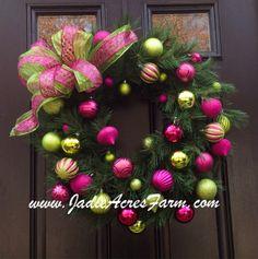 Christmas wreath available at www.JadieAcresFarm.com