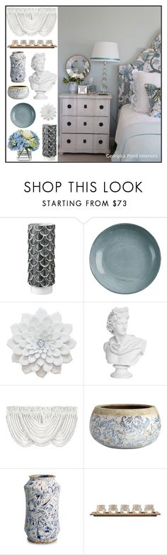 """""""Bloom Interior"""" by loveartrecyclekardstock ❤ liked on Polyvore featuring interior, interiors, interior design, home, home decor, interior decorating, Botteganove, J. Queen New York, Diane James and Pomeroy"""