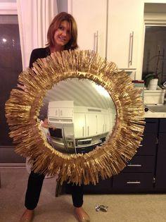 GORGEOUS SHINY THINGS - DIY sunburst convex mirror