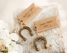 """Lucky in Love"" Horseshoe Place Card Holders (Set of 6) - LeeLeeBella"
