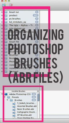 organizing photoshop brushes