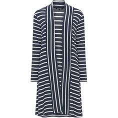 Twister Blue / White Plus Size Striped open cardigan (7,510 INR) ❤ liked on Polyvore featuring tops, cardigans, blue, plus size, long white cardigan, striped long sleeve shirt, striped shirt, plus size long sleeve shirts and long-sleeve shirt