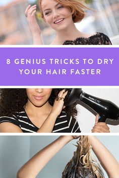 8 Genius Tricks to Dry Your Hair Faster because there's nothing worse than wet hair in cold weather.