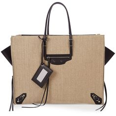 87aa19755498 Balenciaga Papier A4 Zip-Around Linen Tote Bag ( 1