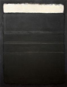 Untitled (White, Blacks, Grays on Maroon - 1963). Rothko