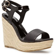 MANGO Espadrille wedge sandals ($80) ❤ liked on Polyvore featuring shoes, sandals, heels, wedge heel shoes, espadrilles shoes, wedges shoes, wedge sandals and espadrille wedge sandals