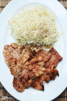 Japanese Ginger Pork with Coleslaw Japanese Ginger, Ginger Pork, Recipe Details, Coleslaw, Beef, Recipes, Food, Meat, Coleslaw Salad